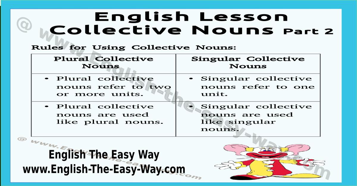 collective nouns - english grammar